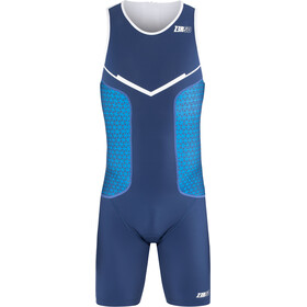 Z3R0D Racer Trisuit Heren, dark blue/white